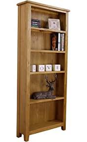 Narrow Bookcases Uk Lanner Oak Narrow Bookcase Co Uk Kitchen Home