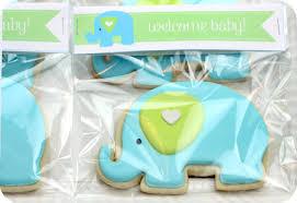 baby shower cookies decorated elephant cookies sweetopia