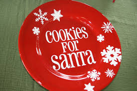 cookies for santa plate two and a vinyl cutter santa s cookies