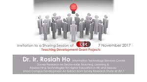 2017 sharing session of teaching development grant project dr ir