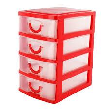 cassettiera da scrivania shopmonk mini organizer rosso a 4 cassetti da scrivania per