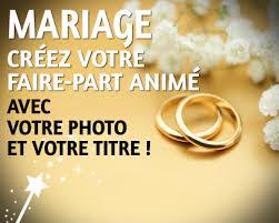 cartes mariage mariage carte faire part animée