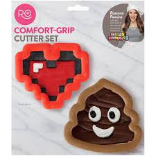 Comfort Grip Cookie Cutters Wilton Rosanna Pansino Comfort Grip Cutter Set Walmart Com