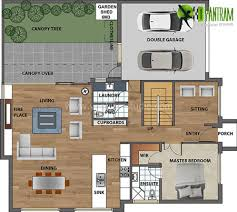 house and floor plans 2d floor plan with furuniture landscaping desing by yantram studio