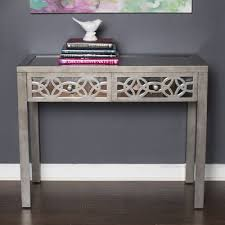 mirrored console table for sale rosdorf park azariah mirrored 2 drawer console table reviews wayfair