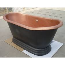 hammered free standing copper bath