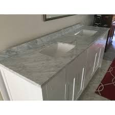 Vanity With Carrera Marble Top Design Element London 78 Inch Double Sink White Vanity With White