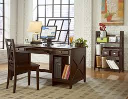 country home office decorating idea with antique desk also vintage