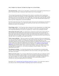 Resume For Server Job by Creating The Best Resume Resume For Your Job Application