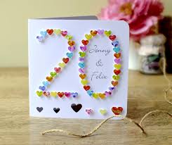 personalized cards wedding handmade 3d 20th wedding anniversary card 20th anniversary
