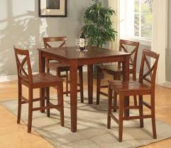 Light Oak Kitchen Table And Chairs - traditional casual dinette room design with asian solid wood pub