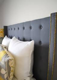 Black Studded Headboard Tufted And Studded Upholstery Details For Elevated Design