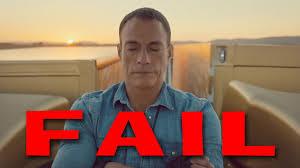 volvo van epic split fail feat van damme volvo truck split commercial