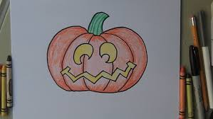 how to draw a halloween jack o lantern pumpkin easy drawing