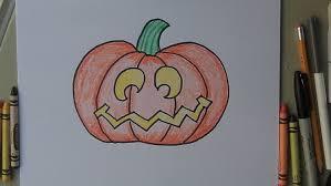 Halloween Drawing How To Draw A Halloween Jack O Lantern Pumpkin Easy Drawing