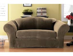 Sure Fit Slipcovers Review Stretch Pique 2 Seat Sleeper Sofa Slipcover Memsaheb Net