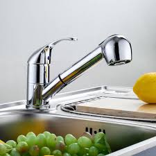 kitchen sink taps mixer faucet chrome pull out head spray spout