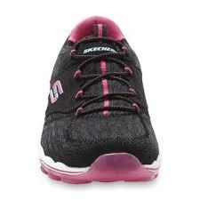 skechers women u0027s black pink skech air lite athletic shoe