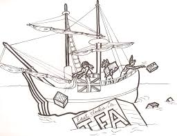 boston tea party drawings sketch coloring page coloring home