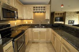 Black Corian Countertop Kitchen Fantastic Antique White Kitchen Cabinet With Dark Corian