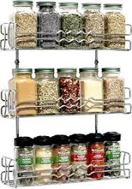 Spice Rack Storage Organizer Wall Mounted 3 Tier Spice Rack Storage Jars Condiments Organizer