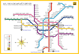 Metro Yellow Line Map by Imam Khomeini Airport Connects Tehran Via Metro Persiaport
