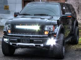 Ford Raptor With Lift Kit - rigid industries 2010 2014 ford raptor grille with camera with