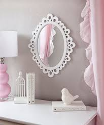 amazon com decorative oval wall mirror white wooden frame for