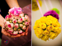 pomander balls wedding flower idea floral pomander balls using pink and yellow roses