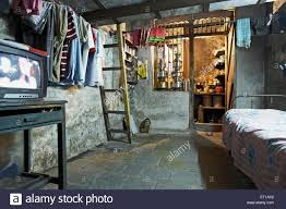 one room house textile mill chawl mumbai india asia stock photo