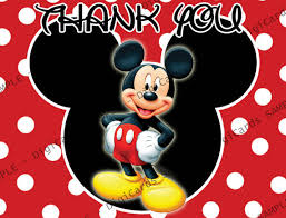mickey mouse thank you cards mickey mouse thank you card by digicards on etsy 4 99