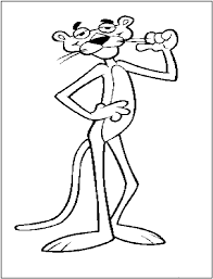 fun printable coloring pages of pink panther u2013 barriee
