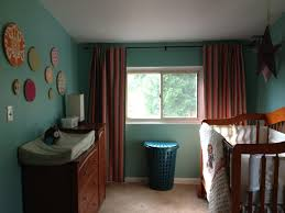best blackout curtains nursery with stripped design and wooden
