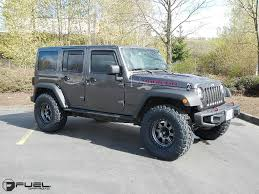 gunmetal grey jeep trophy d552 fuel off road wheels