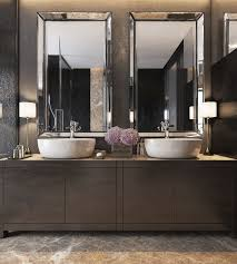 master bathroom mirror ideas three luxurious apartments with modern interiors vessel
