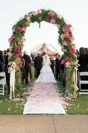 Wedding Arches Inside Garden Theme Oceanfront Wedding At Montage Laguna Beach Inside