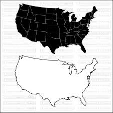 us map outline eps us states map eps svg png jpg vector graphic clip silhouette