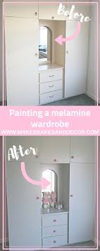 what of paint do you use on melamine cabinets painting a melamine wardrobe makes bakes and decor