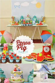 peppa pig birthday ideas puddle jumping boy s birthday party with peppa pig