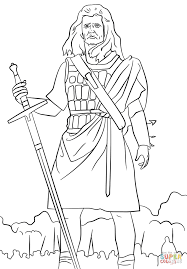 william wallace coloring page free printable coloring pages