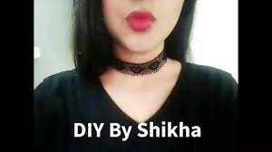 4 choker necklace diy tutorial how to make choker from ribbons