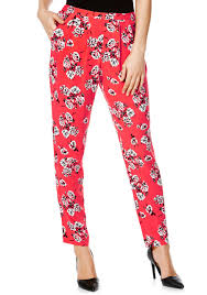 clothing at tesco f u0026f floral tapered trousers u003e trousers
