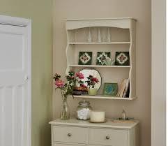 cream colored wall shelves