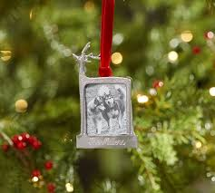 personalizable reindeer frame ornament pottery barn