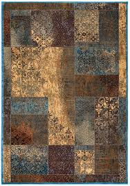 Patchwork Area Rug Antiqued Patchwork Area Rug In Beige Blue Burgundy 3 3 X 5 3