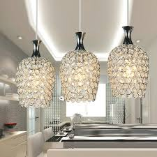 Kitchen Island Pendant Light Fixtures by Dinggu Modern 3 Lights Crystal Pendant Lighting For Kitchen
