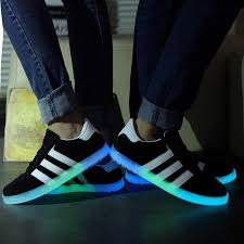 light up sole shoes luminous shoes men and women of fashion will be light shining shoes