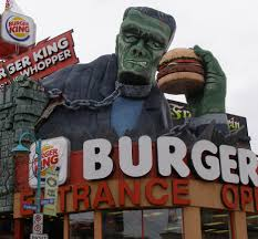 halloween burger burger king statues outside the u s roadsidearchitecture com