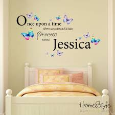 little princess butterfly design personalised wall art home little princess butterfly design personalised wall art