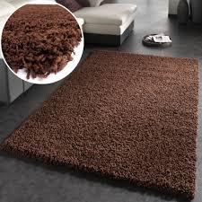 teppich 300 x 400 shaggy hochflor langflor teppich sky einfarbig in braun wohn und